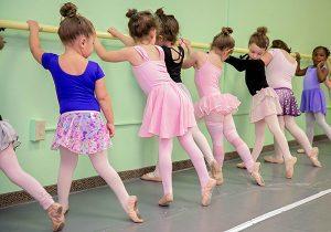 Ballet class at barre