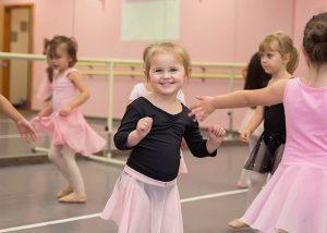 Ballet class girl dancing